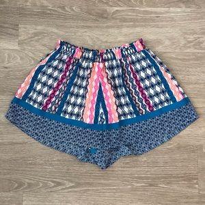 Lush Women's Flowy Shorts - Geometric Pattern - S